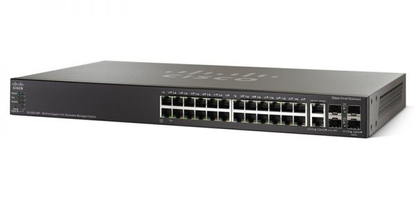 Cisco Small Business 500X Series SG500X-24P-K9-NA Managed PoE Stackable