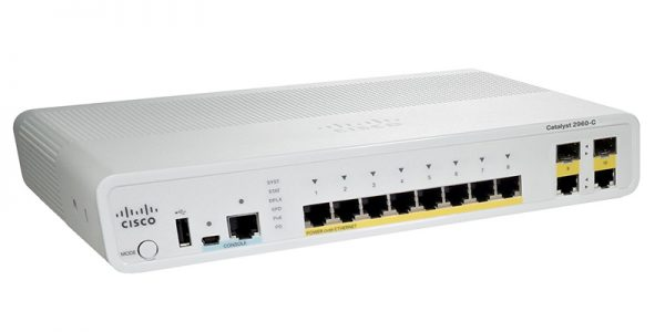 Cisco Catalyst WS-C2960C-8TC-S Managed Ethernet Switch