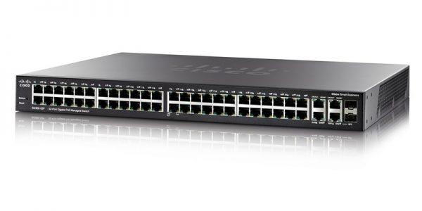 Cisco SG350-52P-K9-NA 52-Port Gigabit PoE Managed Switch