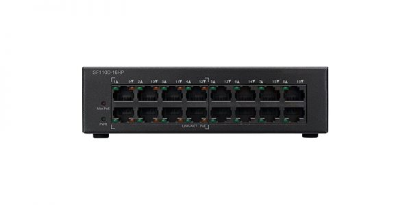 Cisco SF110D-16HP Ethernet Switch - 16 Ports