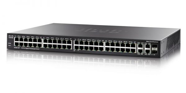 Cisco SG350-52P-K9-NA 52-Port Gigabit PoE Managed Switch